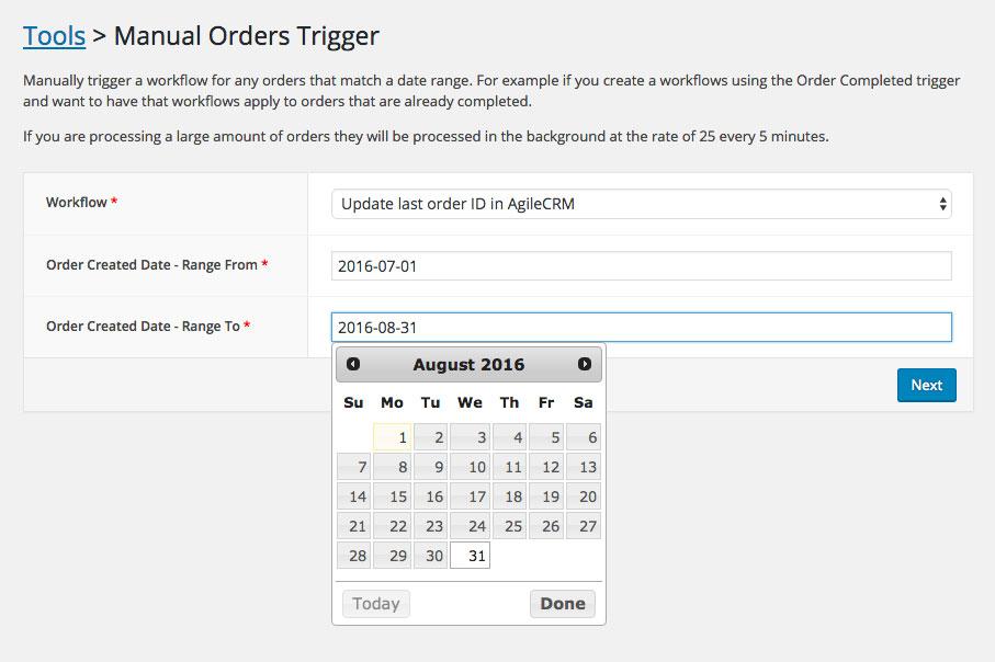 Manual Orders Trigger Tool
