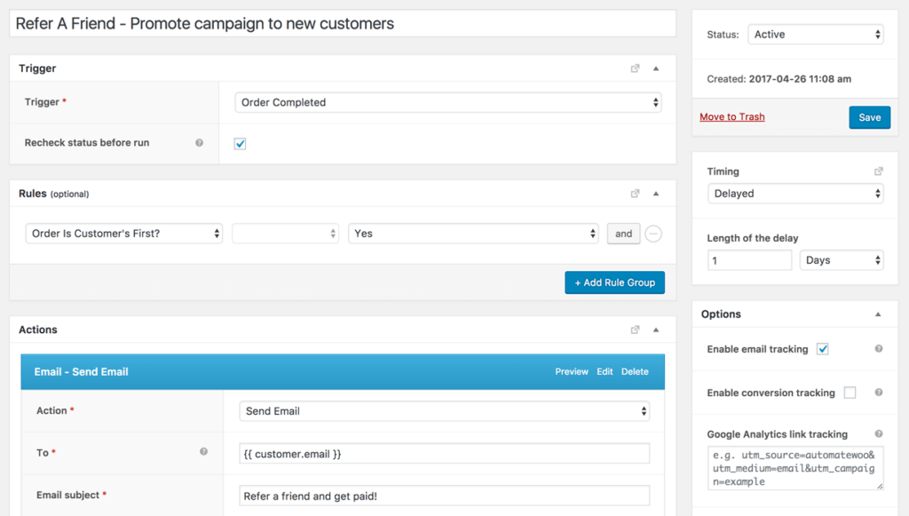 Automatically promote your WooCommerce referral campaign to first-time customers