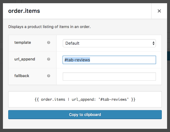This variable can be modified to add an anchor link to the URL, linking customers to the review form.